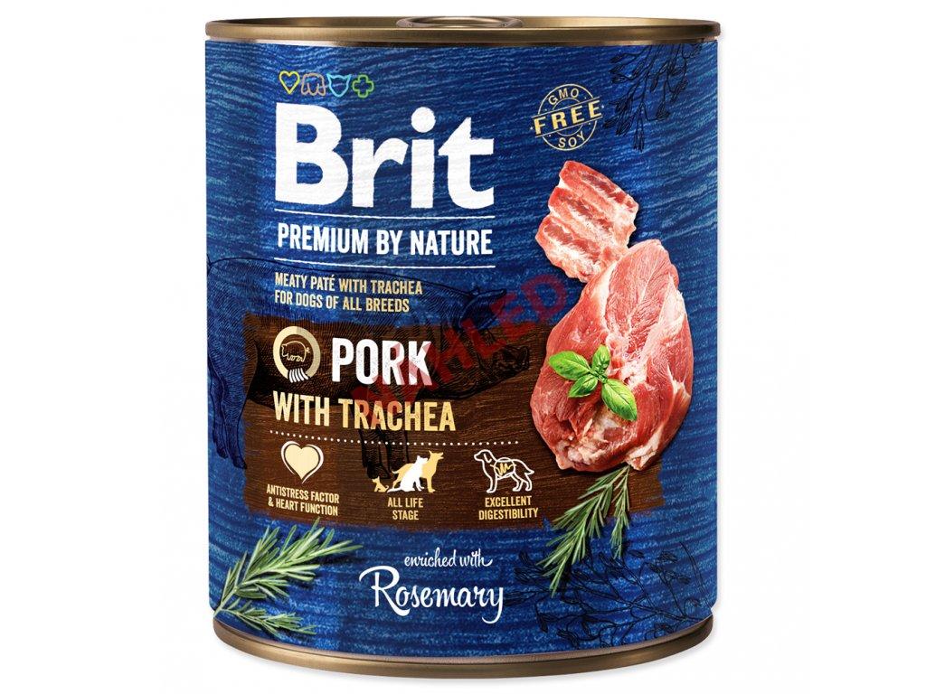 Brit premium dog by Nature Pork with Trachea 800g
