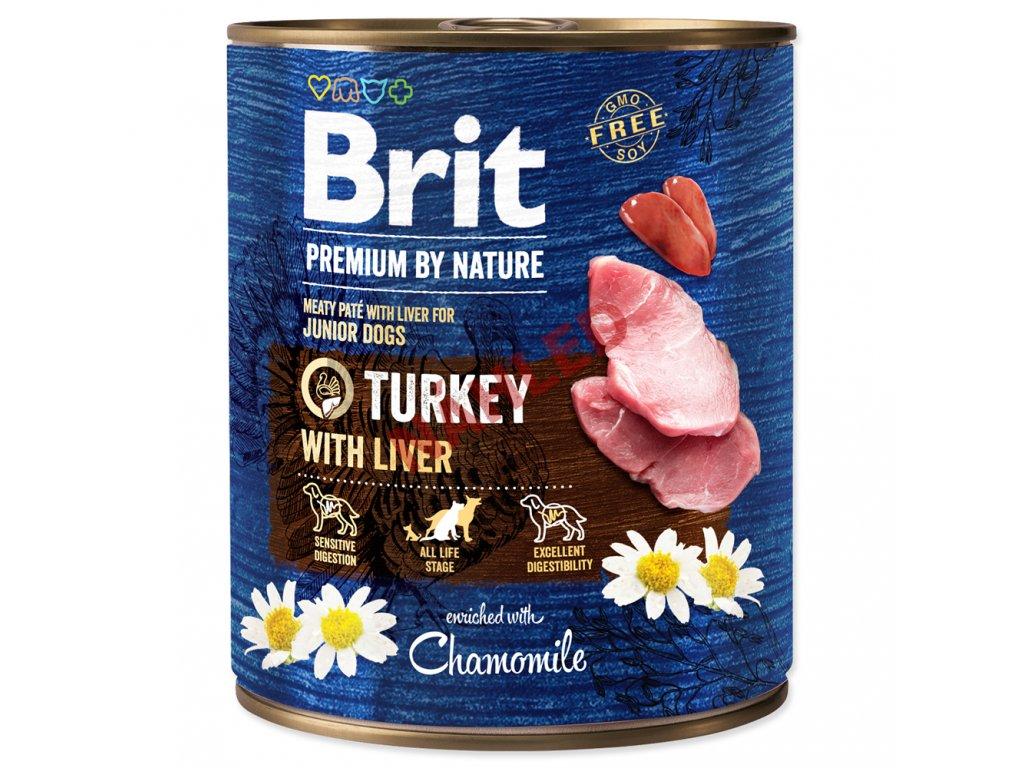 Brit premium dog by Nature Turkey with liver 800g