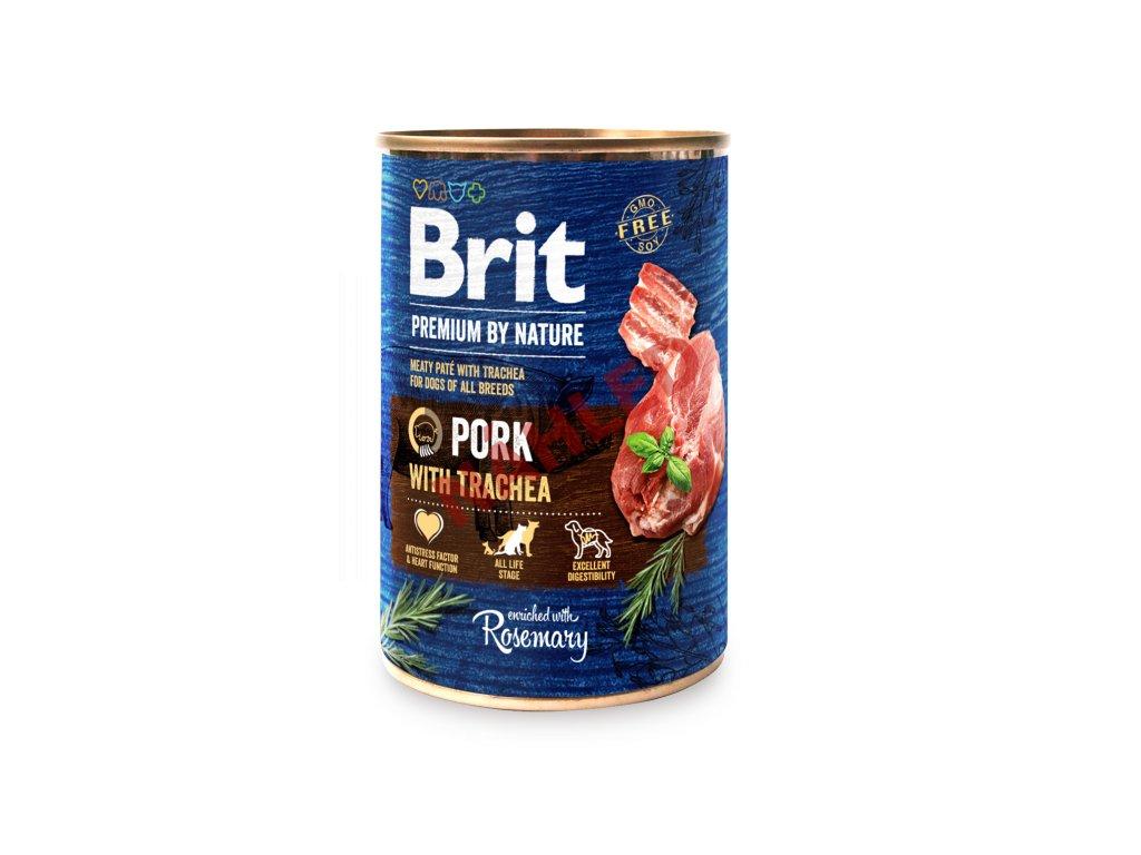 Brit premium dog by Nature Pork with Trachea 400g