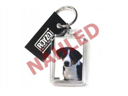 Apenzilský salašnický pes - plastová klíčenka