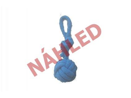Míček přetahovací bavlna modrý