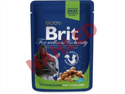 Brit Premium chicken slices for sterilised 100g