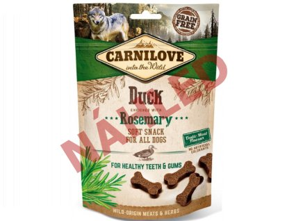 Carnilove Dog Soft Snack duck with rosemary 200g