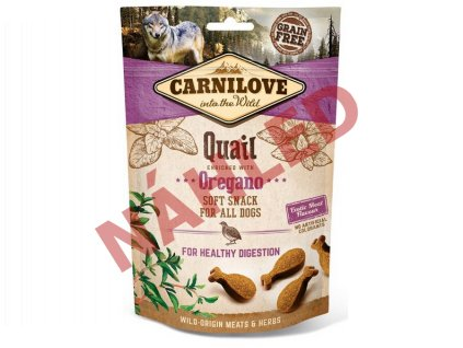 Carnilove Dog Soft Snack quail with oregano 200g