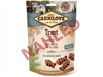 Carnilove Dog Soft Snack trout with dill 200g