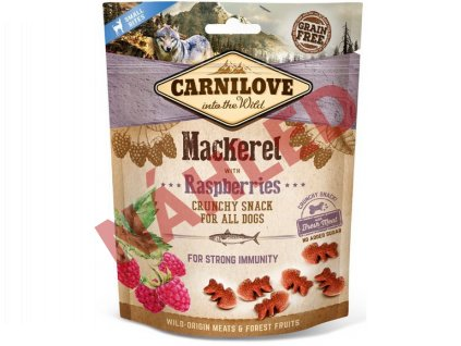 Carnilove Dog Crunchy Snack Mackerel with Raspberries 200g