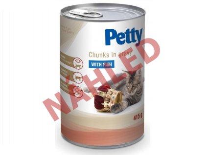 Petty konzerva pro kočky - kousky s rybou v omáčce 415g