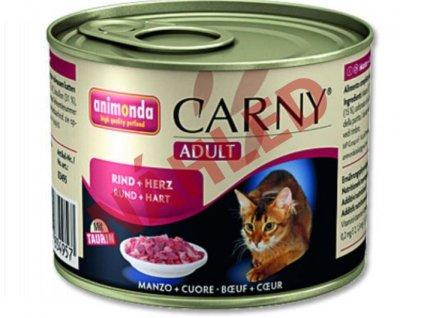 Animonda konzerva pro kočky Carny hovězí/srdce 200g