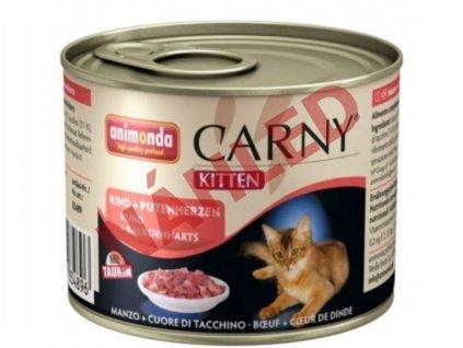Animonda konzerva pro kočky Carny hovězí/krůtí srdce 200g
