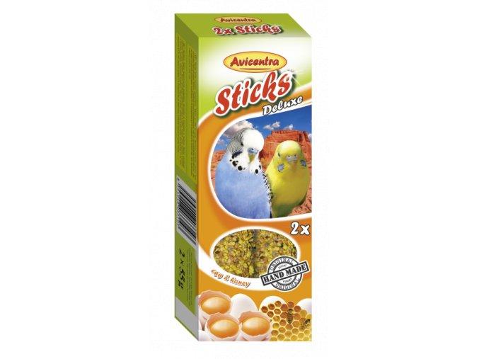 Avicentra tyčinky andulka vejce + med