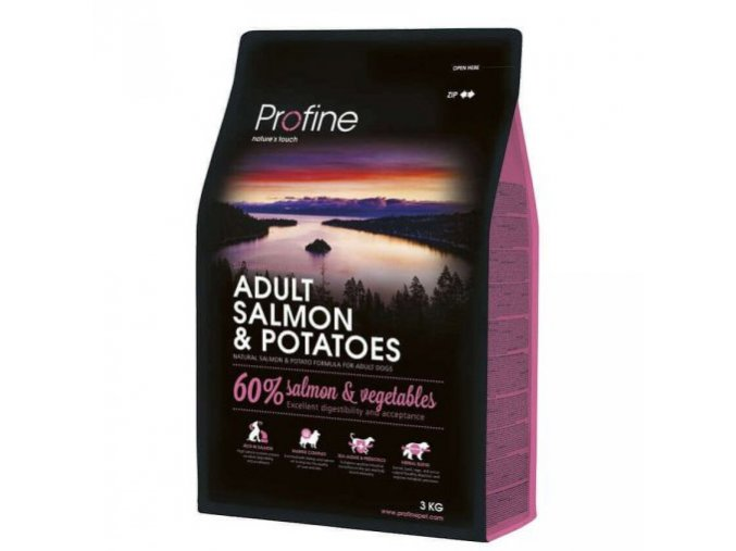 profine dog adult salmon potatoes 3kg