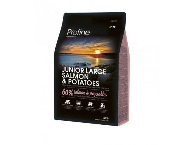 profine dog junior large salmon potatoes 3 kg