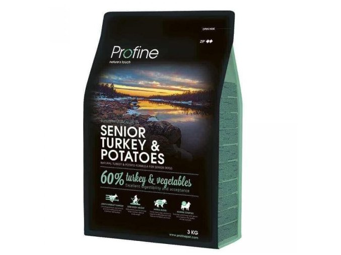 profine dog senior turkey potatoes 3kg