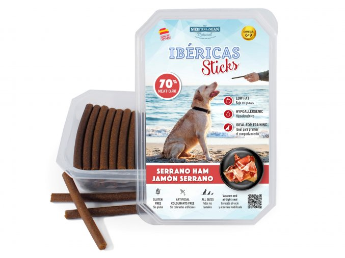 Ibéricas Sticks Dog Snack Serrano Ham
