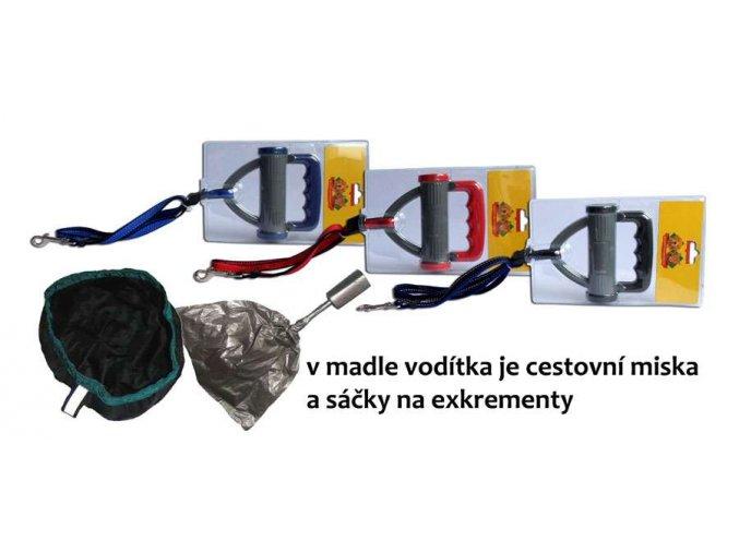 voditko-nylon-nastavitelne-s-cest--miskou-a-sacky-25mm-x-90-150cm