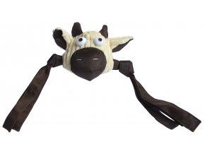 2907 plysova hlava krava piskaci s trasnemi 58cm