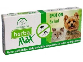 herba max spot on dog cat 5x1ml