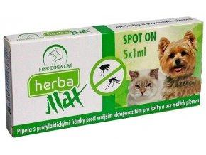herba max spot on dog cat 5x1ml