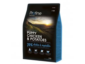 profine new dog puppy chicken potatoes 3kg