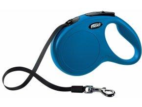 Vodítko Flexi Classic M 5m (max 25kg) pásek modrá