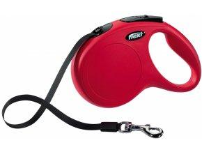 voditko-flexi-classic-s-5m--max-15kg--pasek-cervena