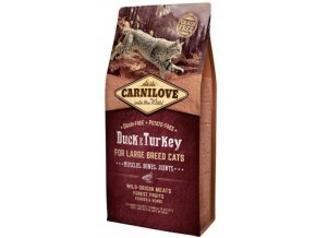 3804 carnilove cat duck turkey for adult large cats 6kg
