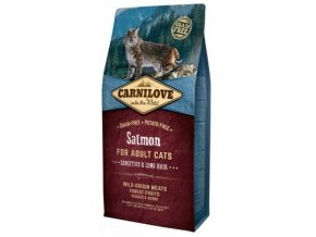 3795 carnilove cat salmon for adult cats sensitive long hair 6kg