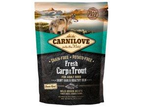 Carnilove Dog Fresh Carp & Trout 1,5kg   Tenesco.cz
