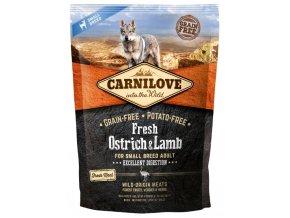 Carnilove Dog Fresh Ostrich & Lamb for small breed 1,5kg   Tenesco.cz