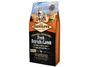 Carnilove Dog Fresh Ostrich & Lamb for small breed 6kg   Tenesco.cz