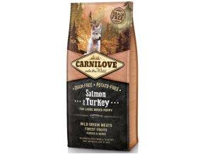 Carnilove Salmon & Turkey for large breed puppy 12kg | Tenesco.cz