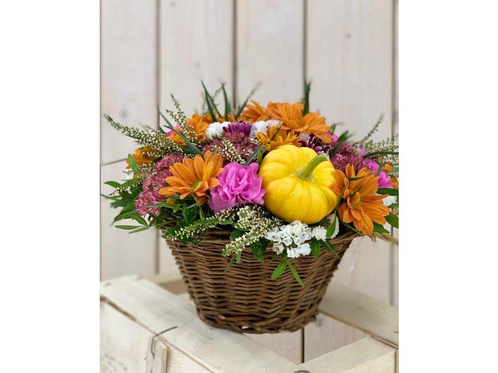 podzimní dekorace kvetiny luka