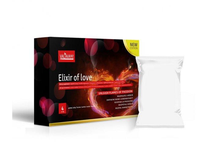ELIXIR OF LOVE 4 SÁČKY (Á 5.28MG) ROZPUSTNÉ AFRODIZIAKUM PRO MUŽE I ŽENY