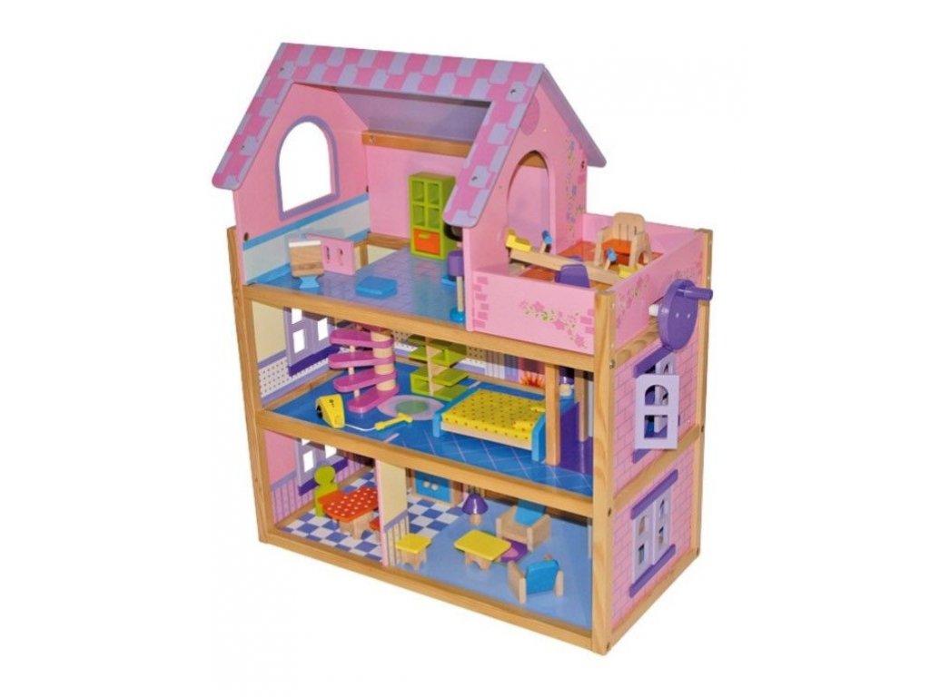 domcek pre babiky ruzovy 3 poschodovy legler 1535 (2)