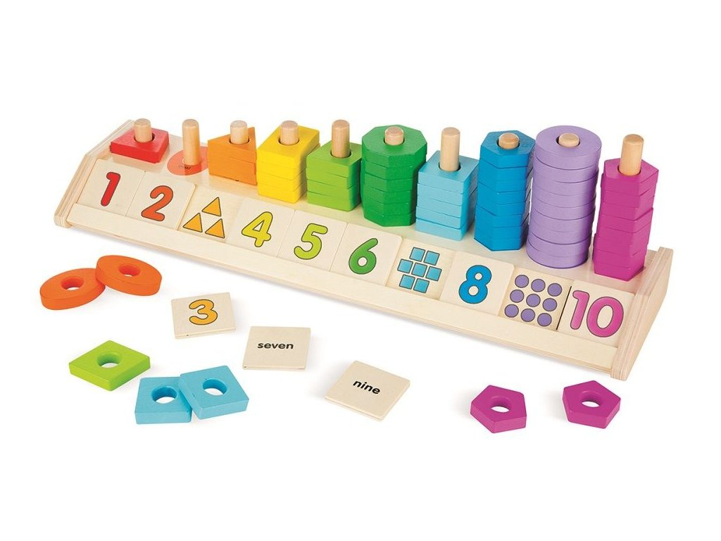 didaktická hračka tvary a čísla