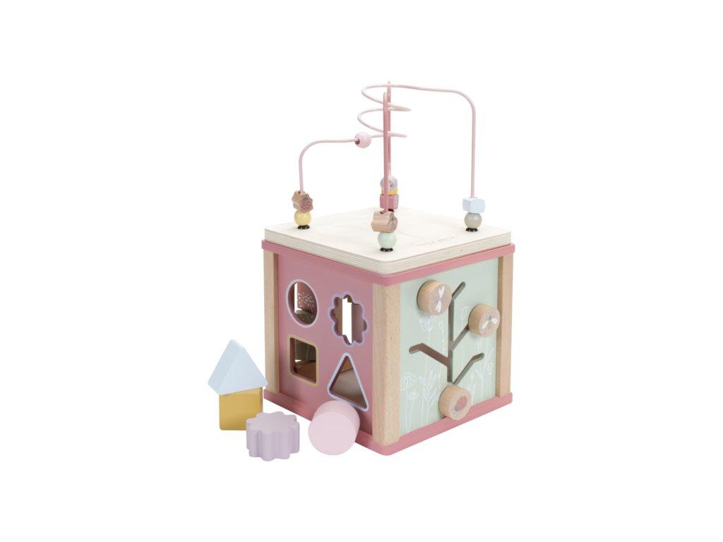 Little Dutch Kocka s aktivitami Pink Flowers