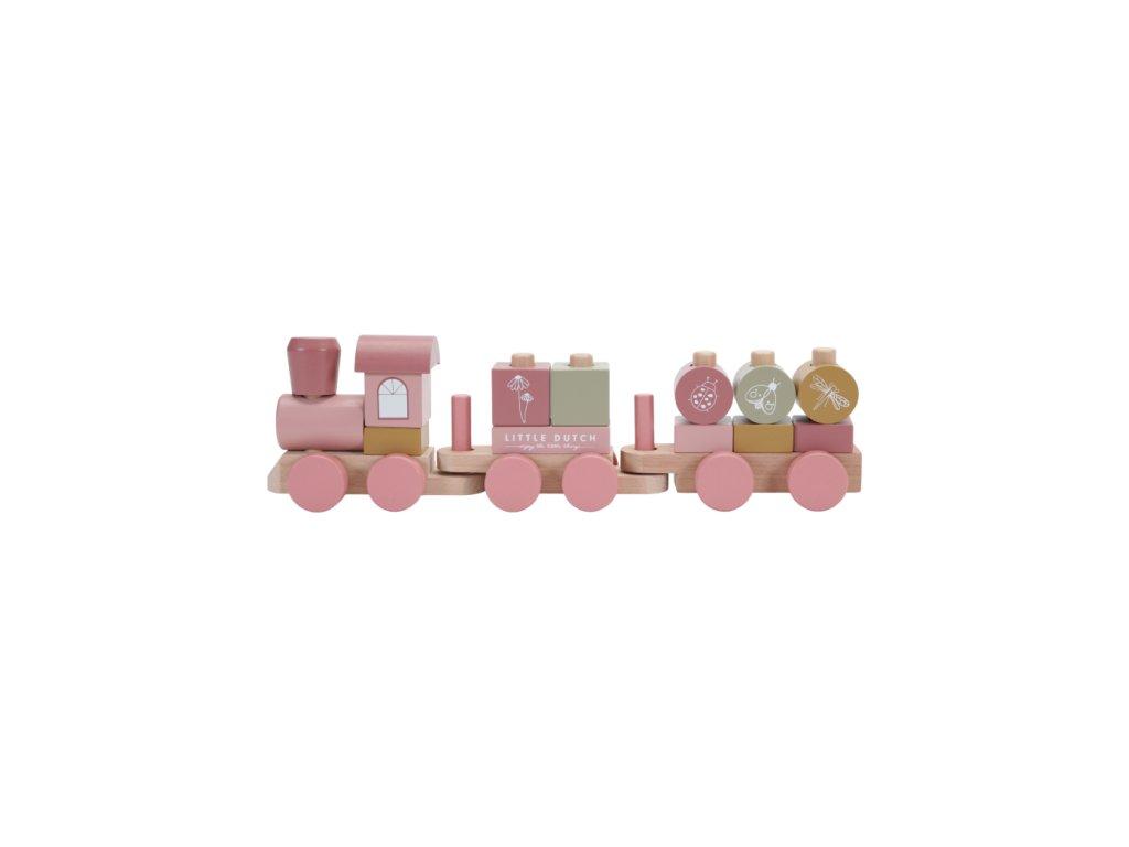 Little Dutch Vláčik Pink Flowers