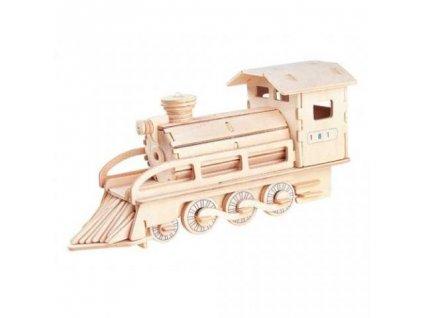 3 d puzzle lokomotiva