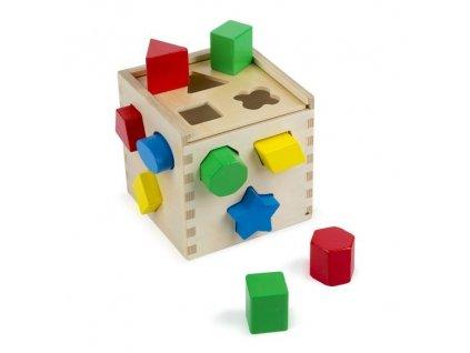 drevena kocka na vkladanie tvarov (1)