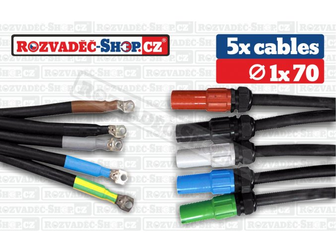 Powerlock source to lug cables fotky 1x70