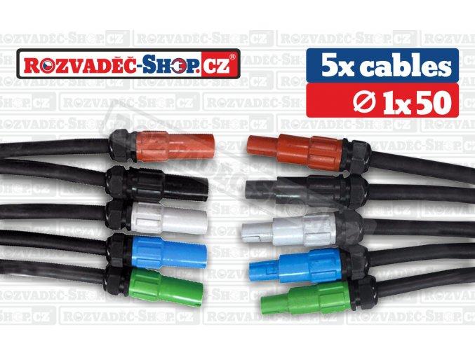 Powerlock to Powerlock cables fotky 1x50