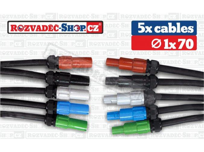 Powerlock to Powerlock cables fotky 1x70