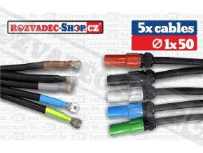 Powerlock source to lug cables fotky 1x50