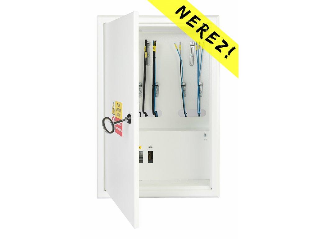 Domovní nerezový elektroměrový rozvaděč SRE 11 Z HDO