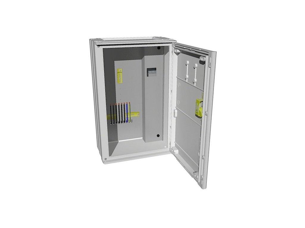 Elektroměrový rozvaděč PER 1/3f/40 3.1.1 vestavná, Elplast-KPZ