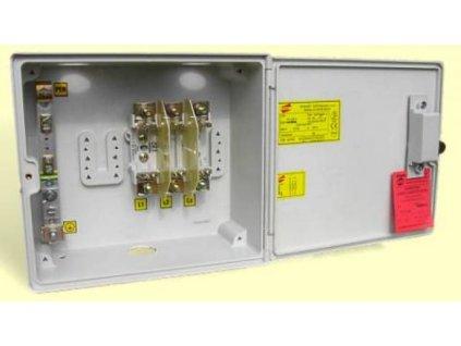 Přípojková skříň PS1 100A HH vestavná se zámkem, Elplast-KPZ
