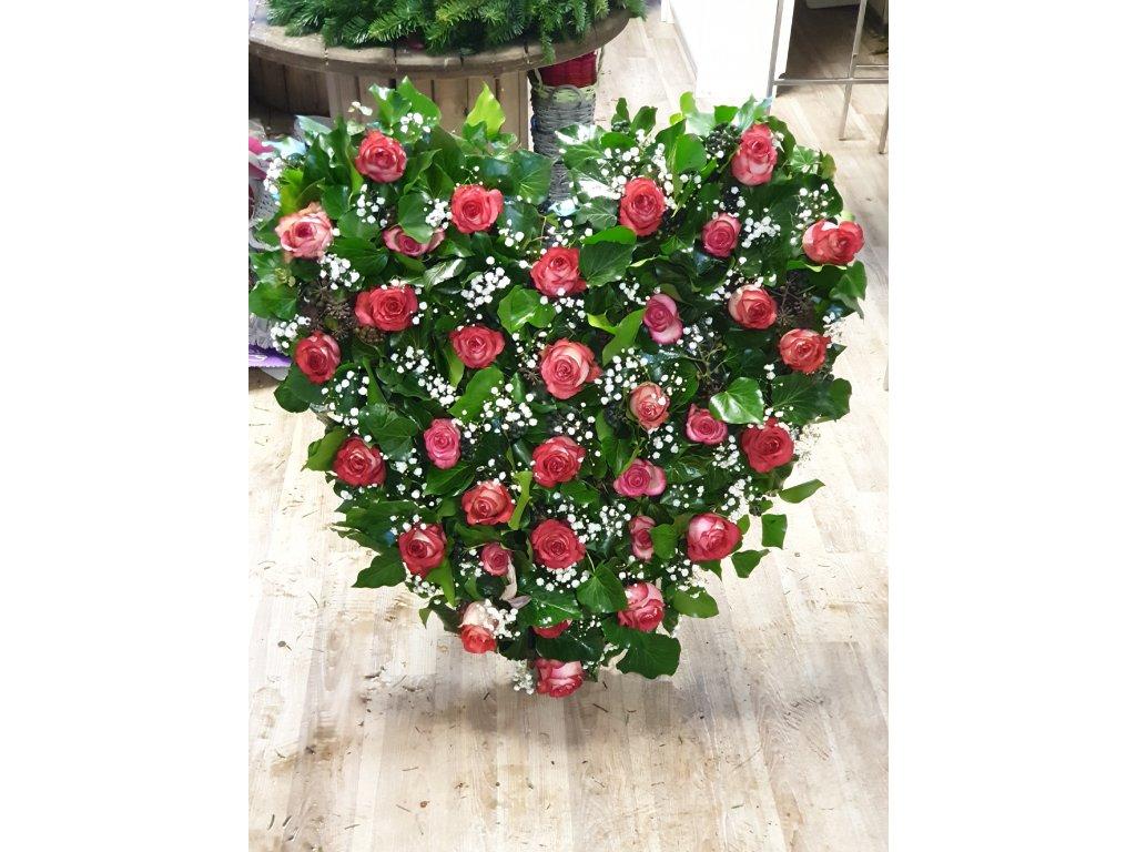 srdce zo živých kvetov