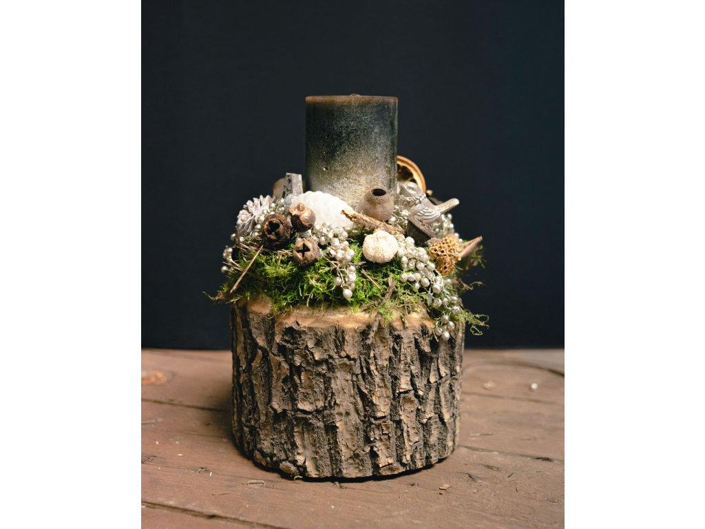 Adventný svietnik v dreve