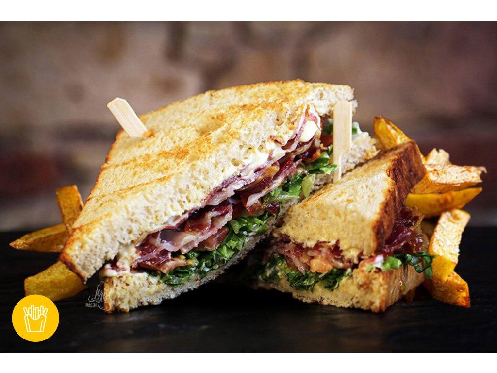 160g BLT SANDWICH s porcí hranolek