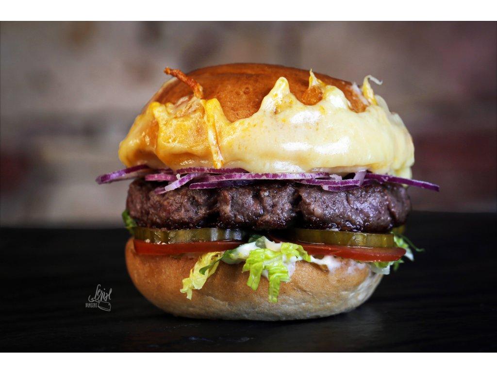 Extra cheeseburger